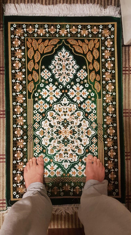 Image of feet of prayer mat