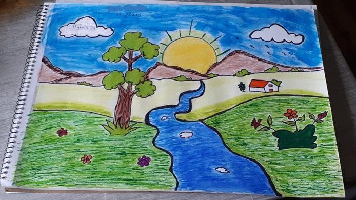 Colourful scenic picture
