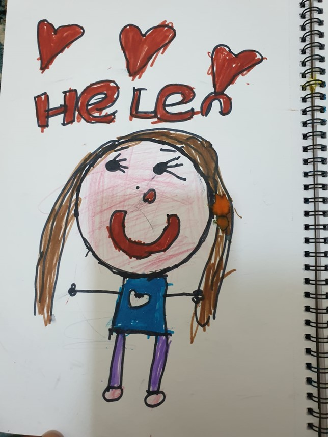 Childs picture of someone call Helen