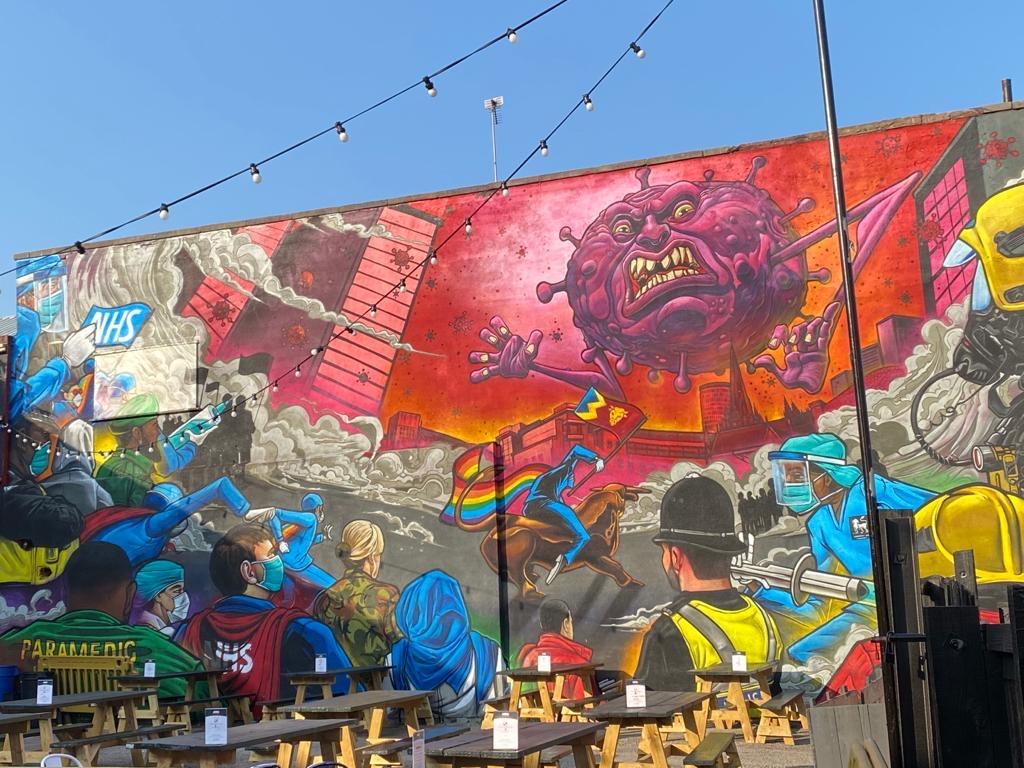 Stunning, colourful grafitti art in Birmingham