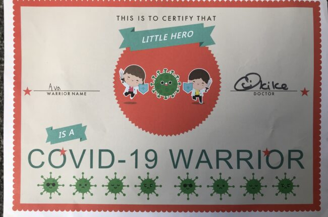 My child is a Covid Warrior