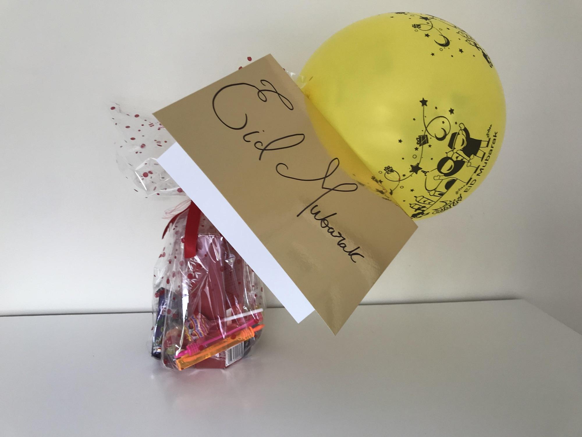 A card and balloon