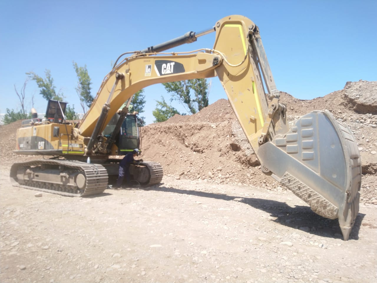 Digger on construction site
