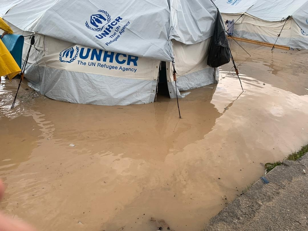 New refugee camp on Lesvos flooded 3