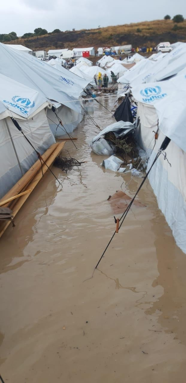 New refugee camp on Lesvos flooded 2