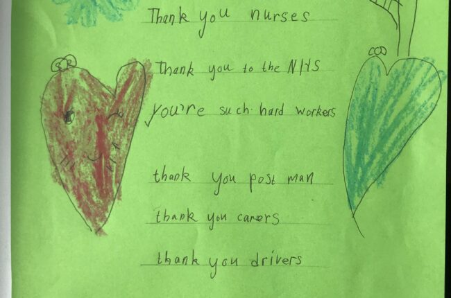 Thank you NHS and frontline workers