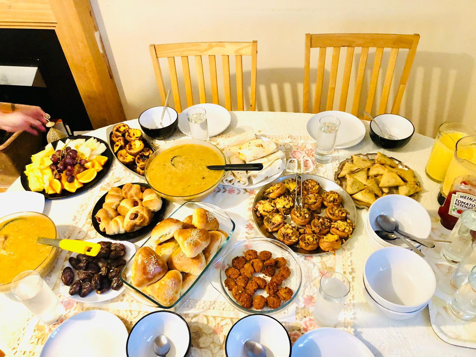 Homemade food for Ifar