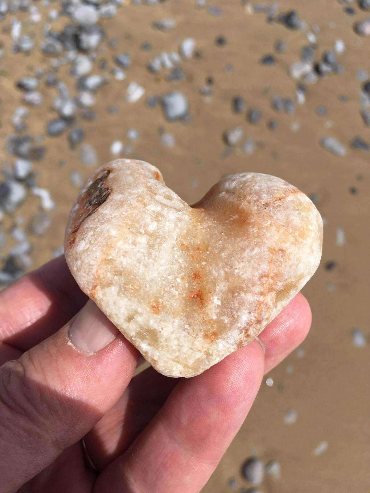 A stone found while walking on the beach in Swansea