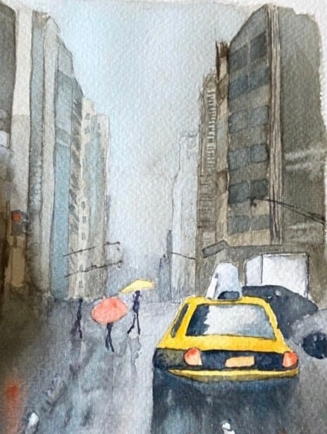 Watercolour painting made during lockdown