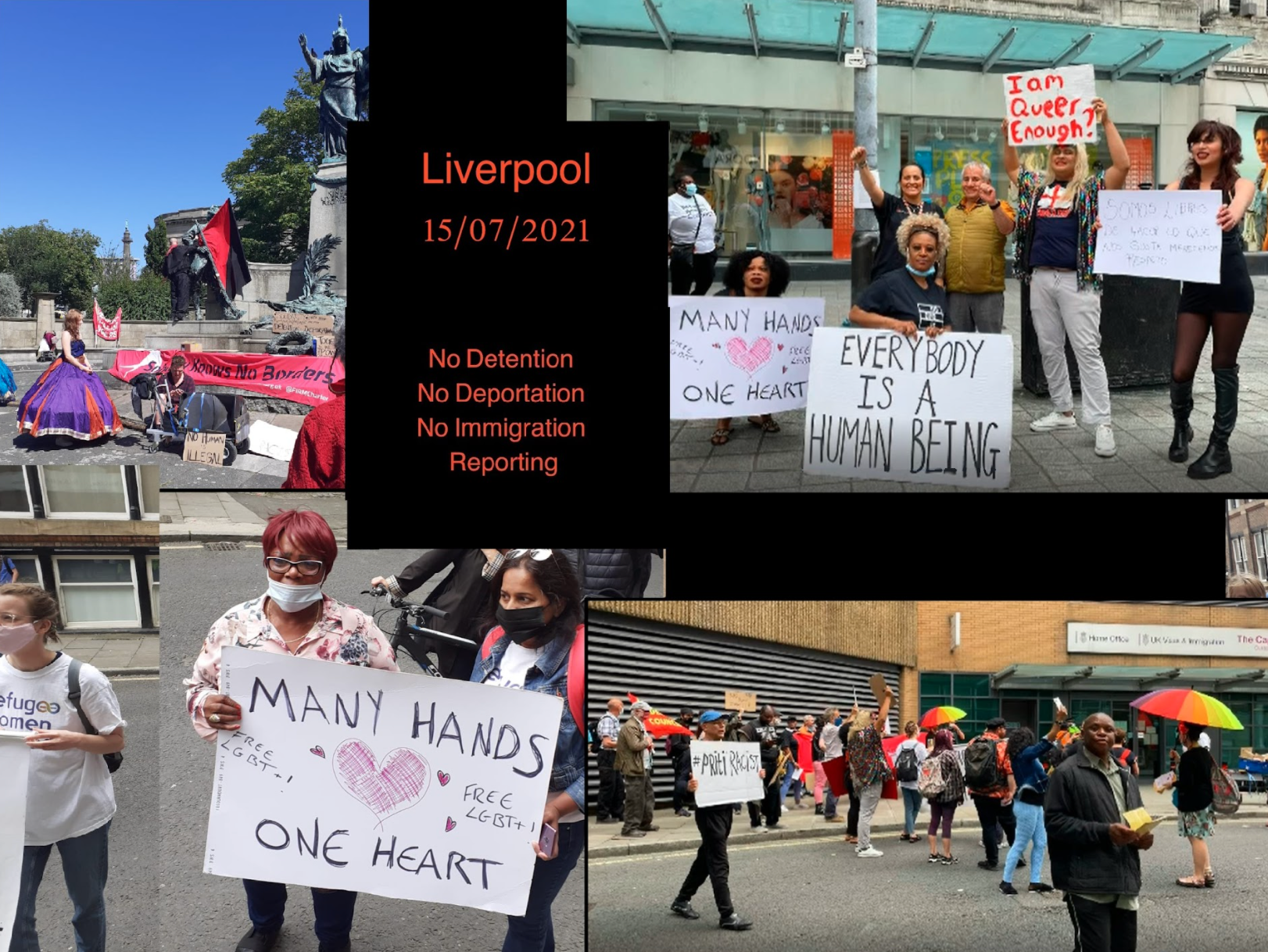Demonstration in Liverpool