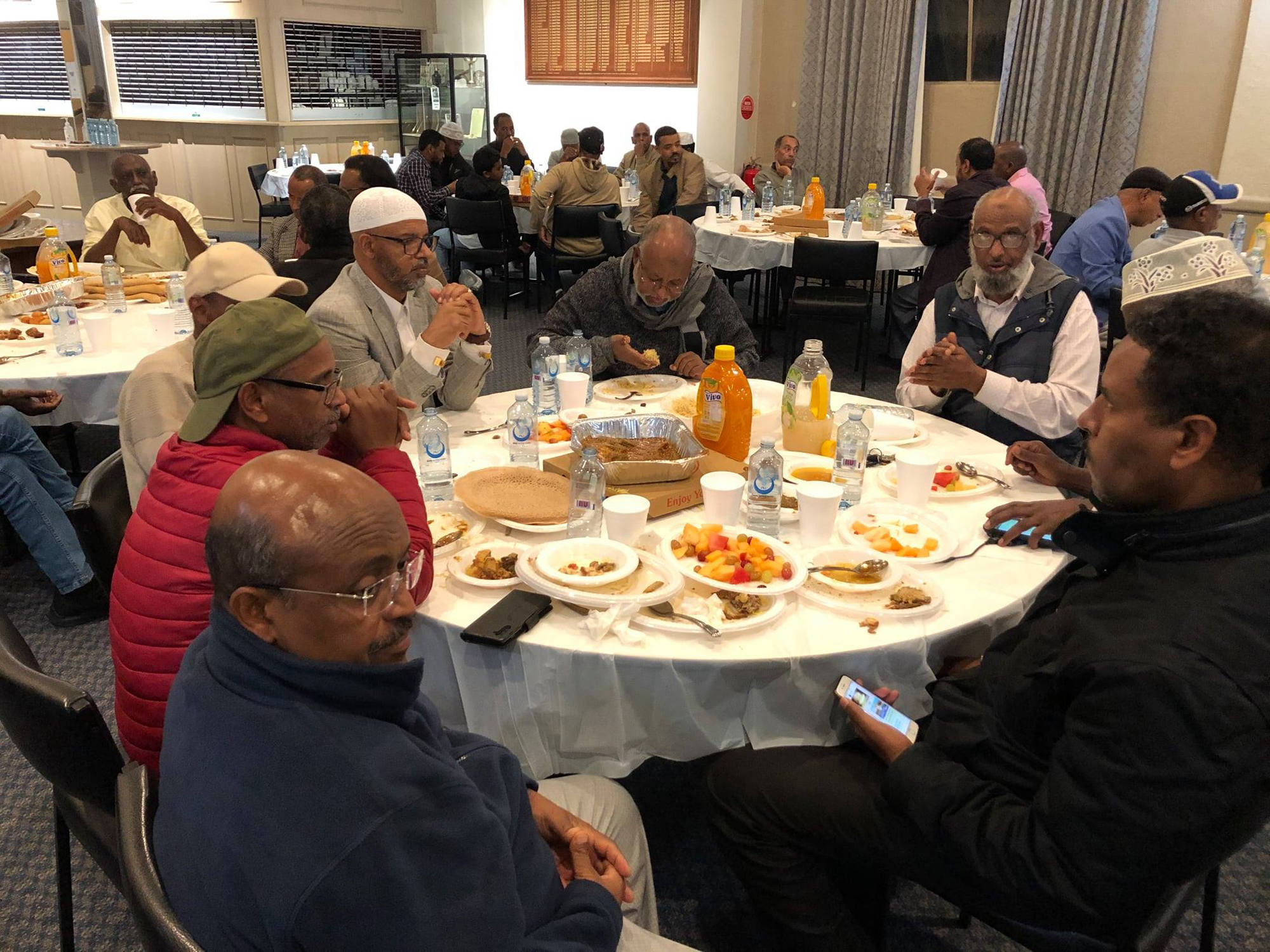 Members of the Eritrean community coming together during Ramadan in Melbourne, Australia, to break fast 6