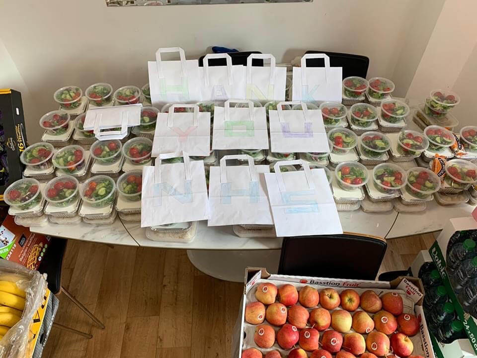 Lunch for NHS staff in Oxford prepared by the Kurdish Community