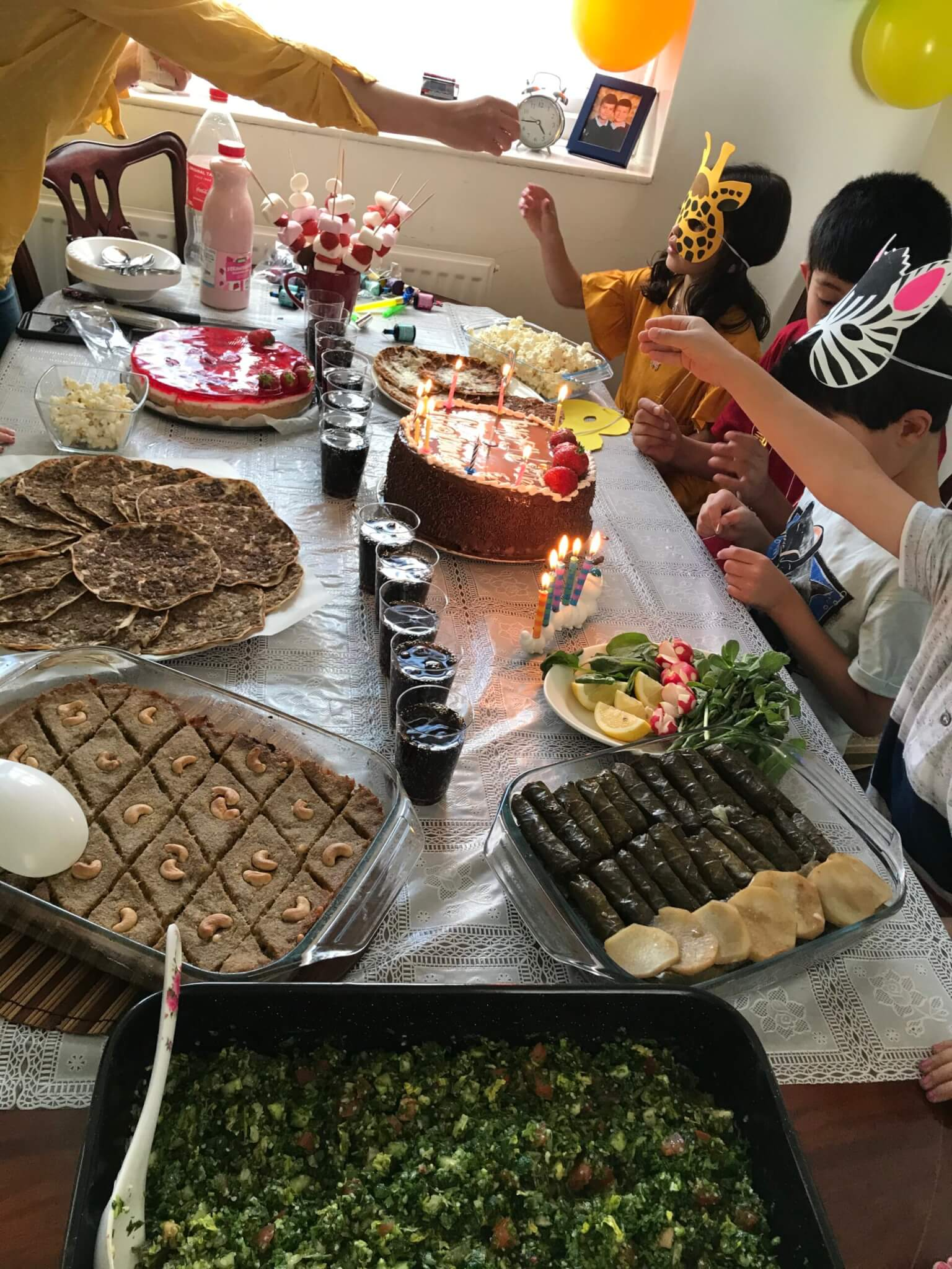 Syrian birthday party